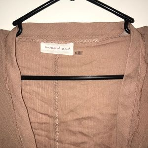 Mustard Seed Tops - Cropped tie front top